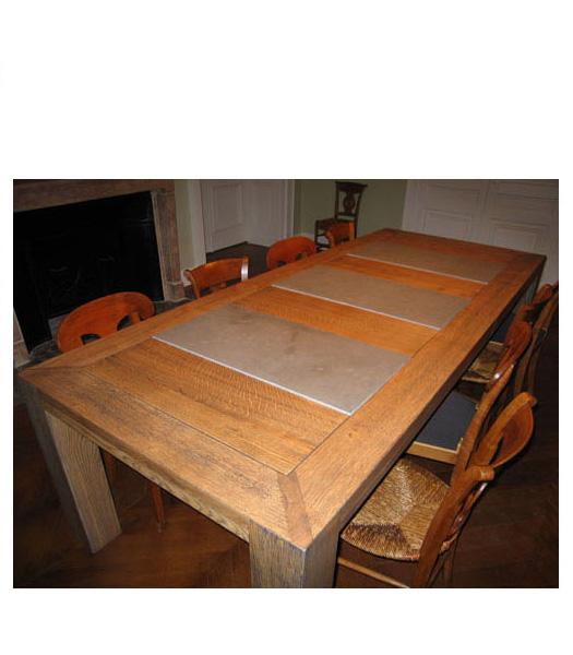 Table bois et pierre for Salle a manger en pierre
