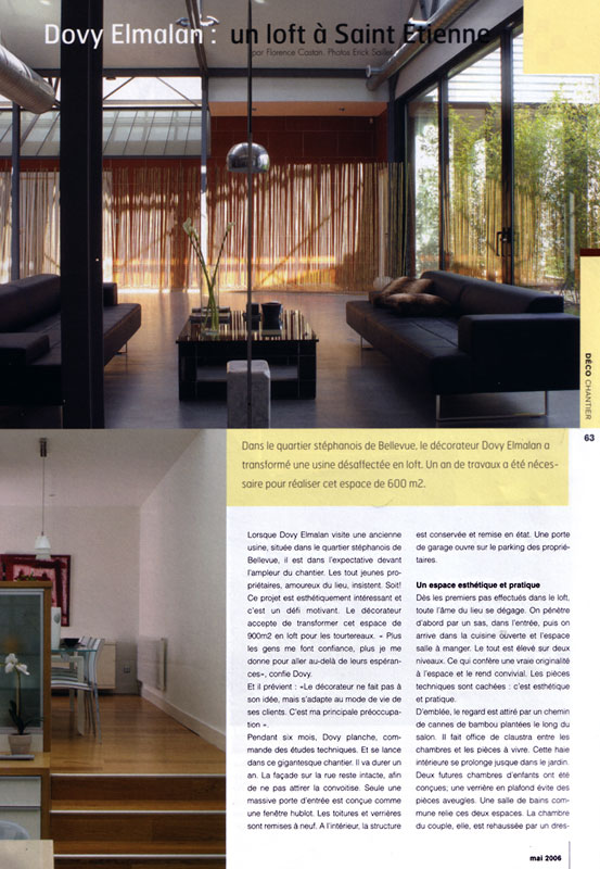 presse 2006 c te magazine dovy elmalan transformation d 39 espaces. Black Bedroom Furniture Sets. Home Design Ideas