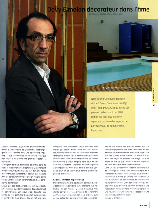 Presse 2006 c te magazine dovy elmalan for Magazine architecture interieure
