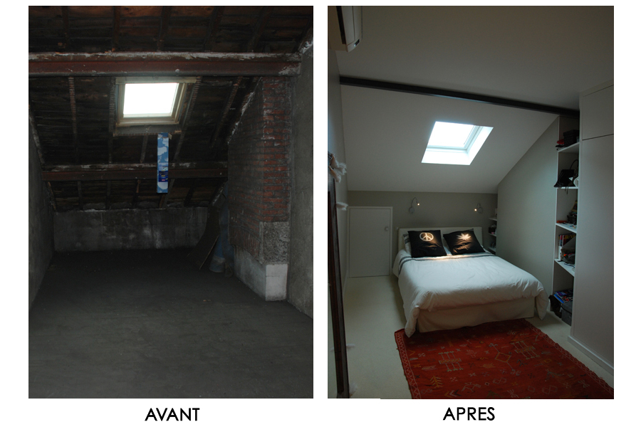 Amenagement de combles dovy elmalan transformation d for Amenagement chambre