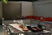 Terrasse avec mur d'eau