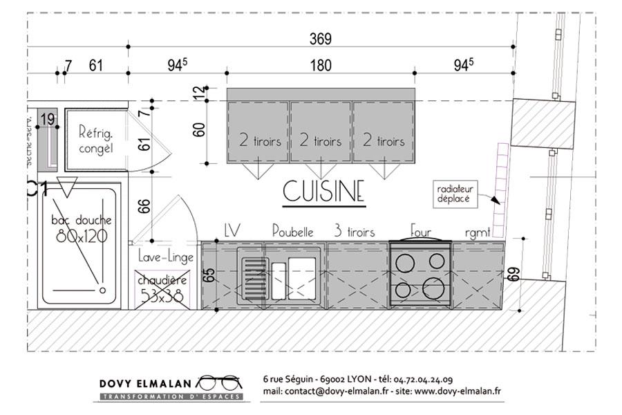 lyon appartement r nov pour la location dovy elmalan transformation d 39 espaces. Black Bedroom Furniture Sets. Home Design Ideas
