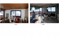 espace repas - avant et après travaux