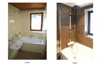 salle de bains - avant et après travaux