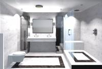 salle de bains, finitions marbre