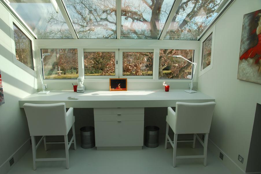 amenagement d 39 un bureau et d 39 une salle de bain dovy elmalan transformation d 39 espaces. Black Bedroom Furniture Sets. Home Design Ideas