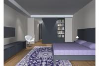 Rendu 3D - proposition 3 - vue générale (porte coulissant devant bibliothèque intégrée)