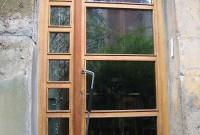 Porte d'entrée verre et bois
