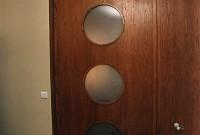 Porte de dressing verre et bois