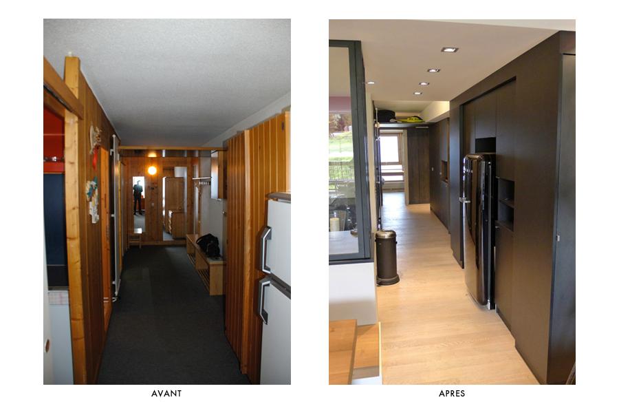 renovation appartement montagne avant apres
