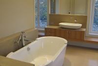 salle de bains, baignoire ilôt