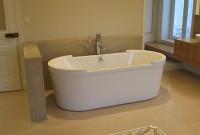 Muret encadrant la baignoire ilôt